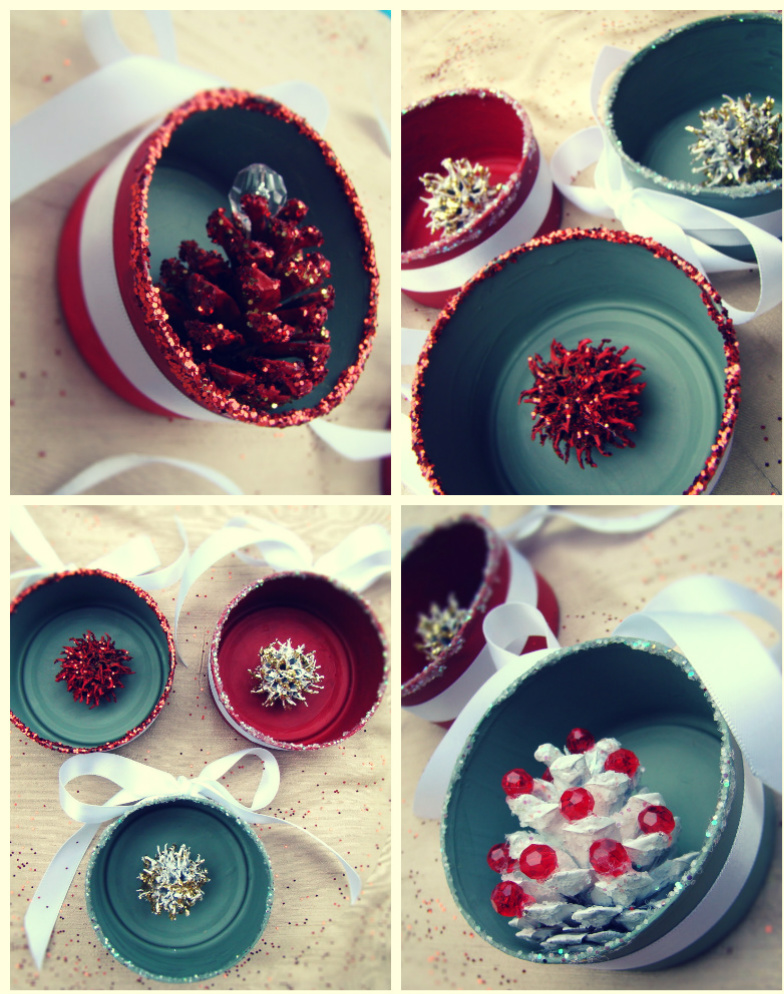 Vintage Tin Can Christmas Ornaments