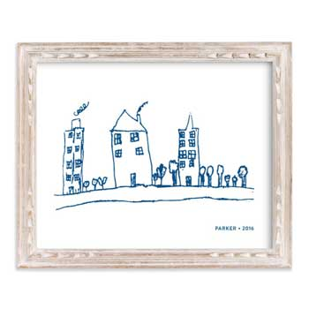 Your Drawing As Art Print by Minted