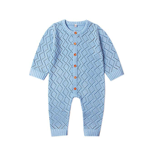 Baby and Toddler Boy's Button-Up Knit Romper