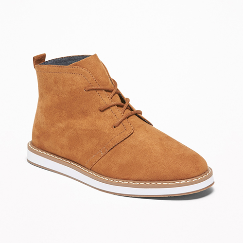 Old Navy Faux Suede Chukkas for Boys Tan
