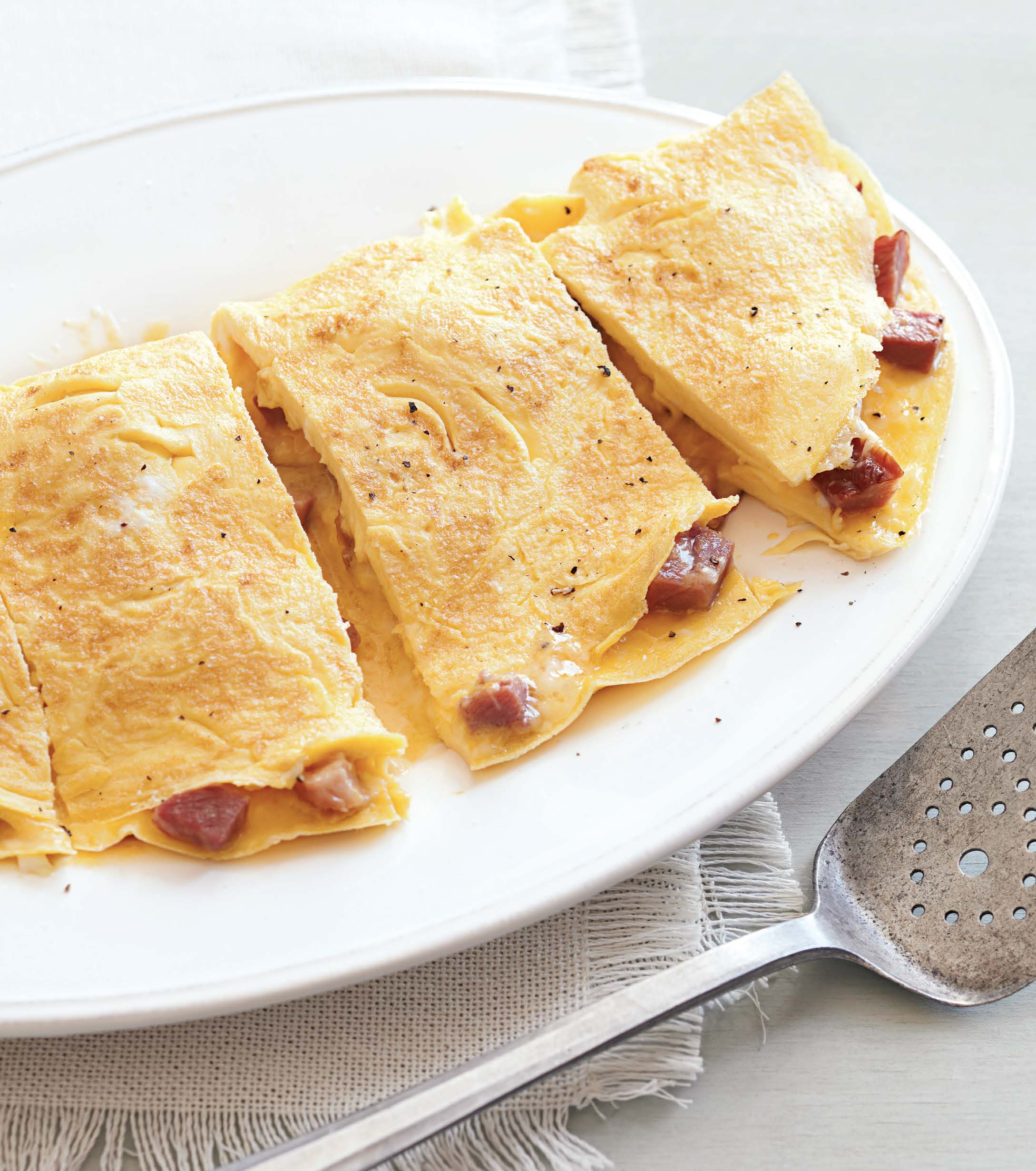 Ham and Cheddar Omelette Recipe