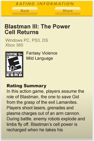 Screen Play App of the Week: ESRB Rating Search