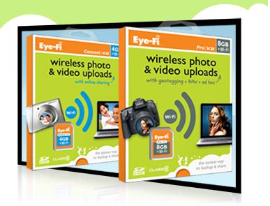 Tired of having to download all those cute kid photos from your camera? Let Eye-Fi do the work for you!