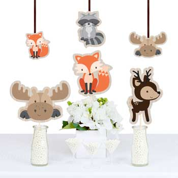 Woodland Creatures Baby Shower Decorations