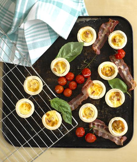Kid-Friendly Finger Food: Mini Bacon and Egg Tarts
