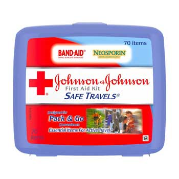FSA Spend Johnson & Johnson Red Cross Safe Travels First Aid Kit
