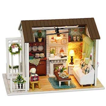 Flever Dollhouse Miniature DIY House Kit Creative Room with Furniture