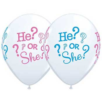 He or She Gender Reveal Balloons