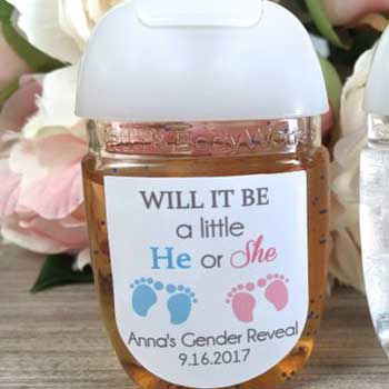 Gender Reveal Party Favor Labels