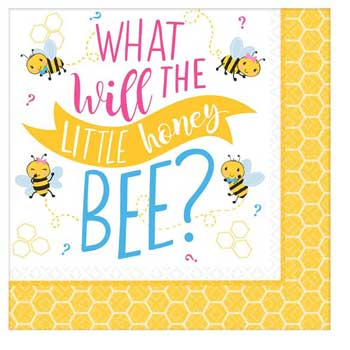 Gender Reveal Honey Bee Napkins