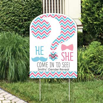 Welcome Sign for Gender Reveal