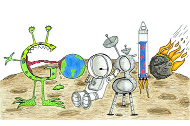 Aspiring 7-Year-Old Astronaut Wins Doodle 4 Google Contest
