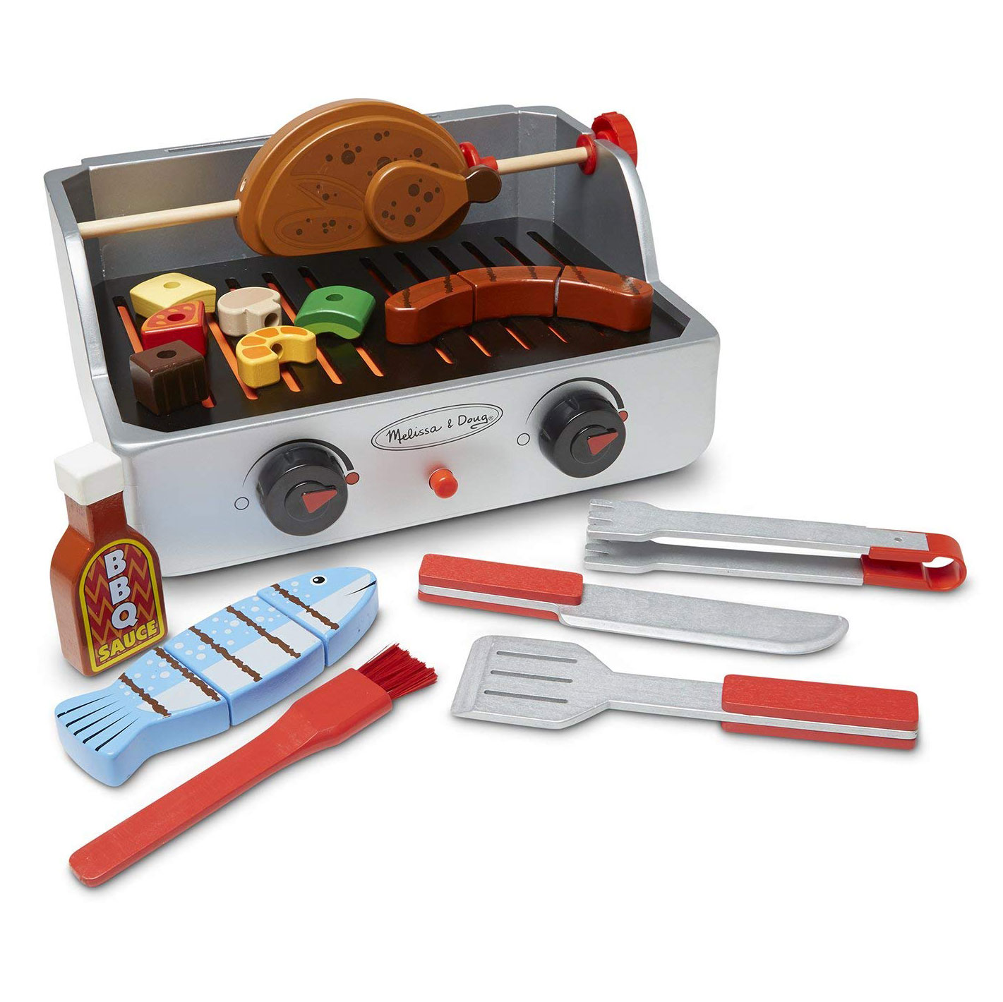 Rotisserie and Grill, Wooden Barbecue Play Food Set