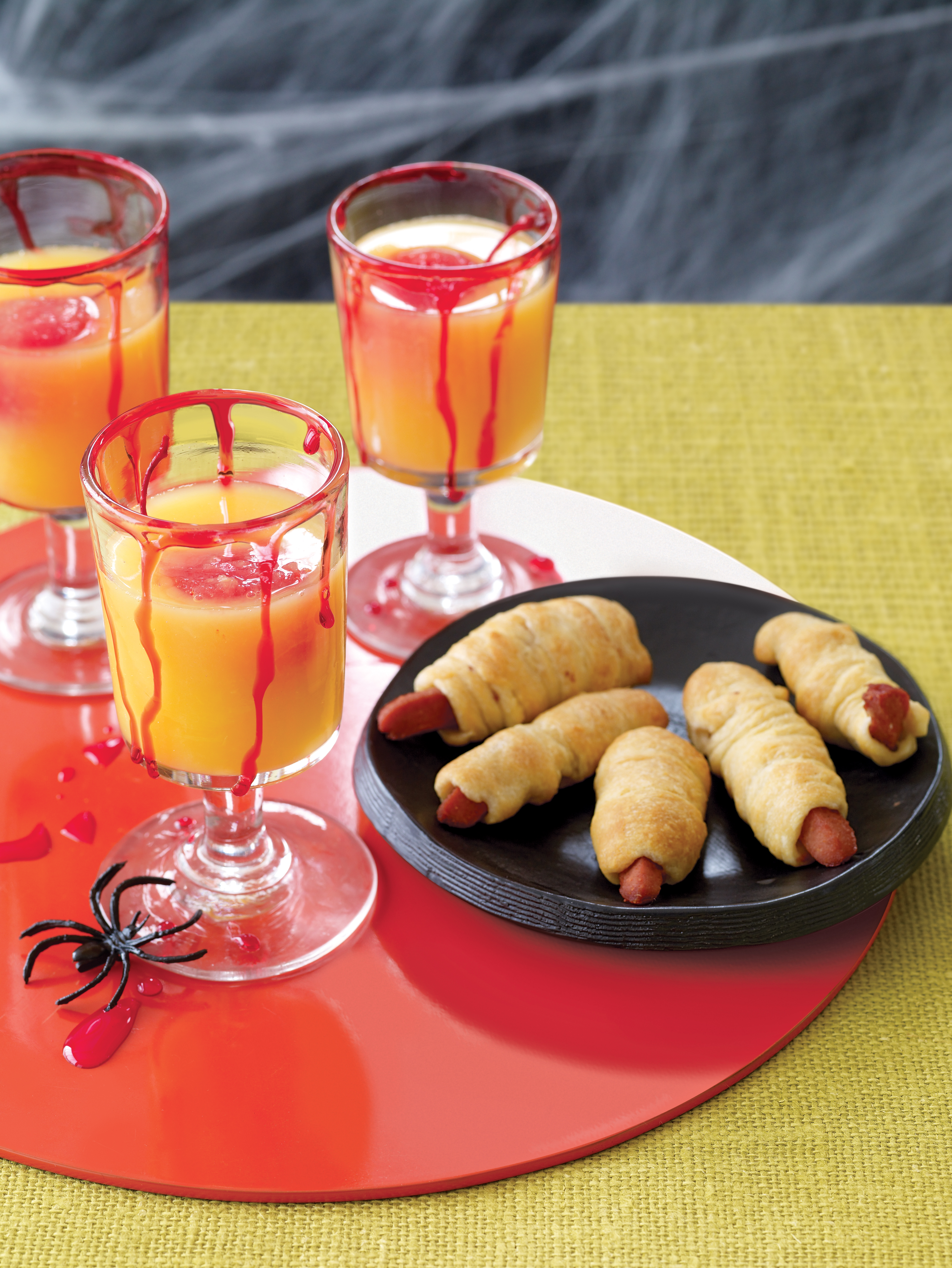 Easy Halloween Recipes Hot Dogs and Punch
