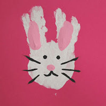 easy easter crafts handprint bunny