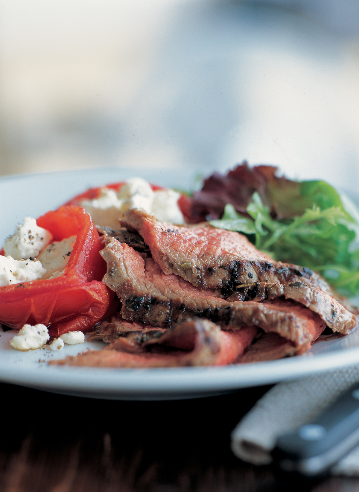 Grilled Flank Steak with Tomatoes