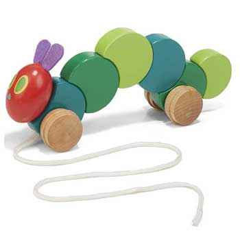 The World of Eric Carle Very Hungry Caterpillar Wood Pull Toy
