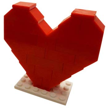 LEGO Red Heart Minifigure Set
