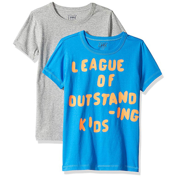 LOOK by crewcuts Boys' 2-Pack Graphic/Solid Short Sleeve T-Shirt