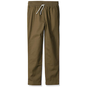 LOOK by crewcuts Boys' Lightweight Pull on Chino Pant
