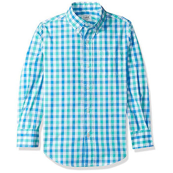 LOOK by crewcuts Boys' Long Sleeve Gingham Shirt
