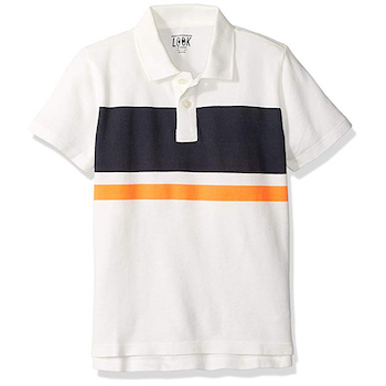 LOOK by crewcuts Boys' Short Sleeve Polo