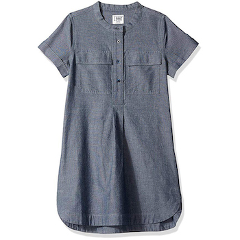 LOOK by crewcuts Girls' Chambray Shirt Dress