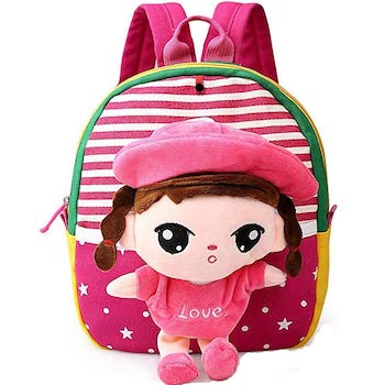 MATMO 3D Cartoon Little Plush Baby Backpack and Toy Bag
