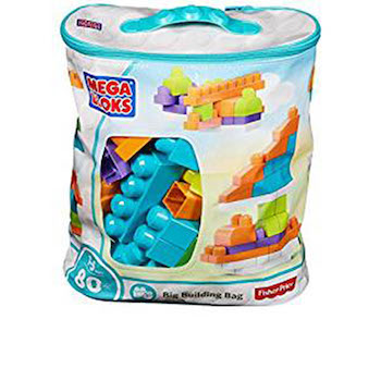 Mega Bloks Big Building Bag, Trendy (80 Piece)