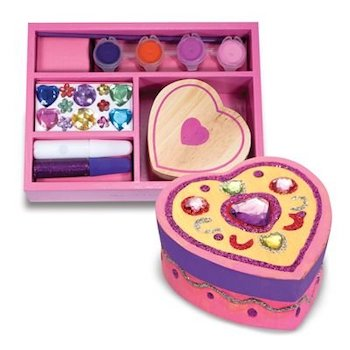Melissa & Doug Decorate Your Own Wooden Heart Box Craft Kit