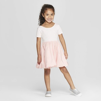 Mila & Emma Clothing Line Mila & Emma Toddler Girls' Ballerina T-Shirt Dress