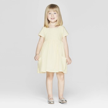 Mila & Emma Clothing Line Mila & Emma Toddler Girls' Stripe A-Line Dress with Pockets