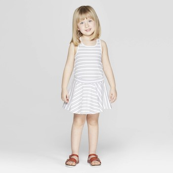 Mila & Emma Clothing Line Mila & Emma Toddler Girls' Striped Circle Skirt Dress