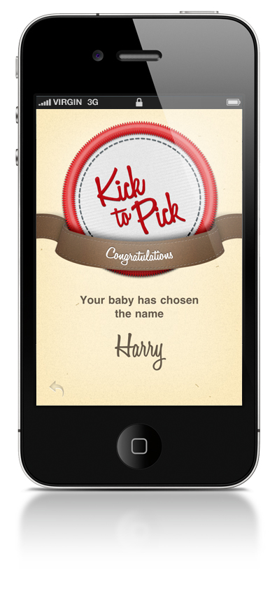 Babies In Utero Can Pick Own Names with Kick to Pick App