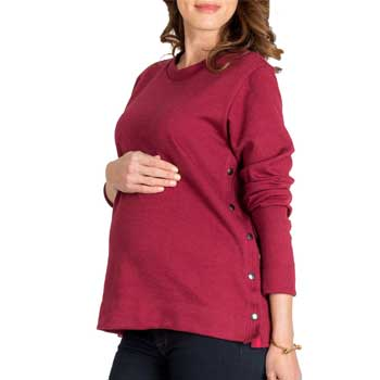 Nom Maternity Olivia Snap Side Maternity Sweater