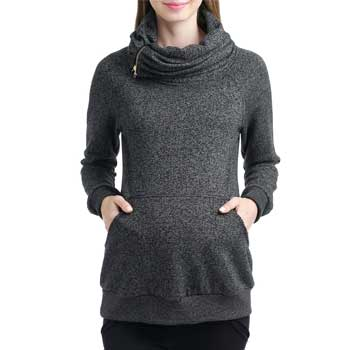 Kimi and Kai Thea Zip Collar Maternity Sweatshirt