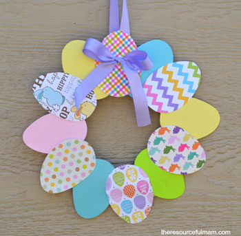 easy easter crafts paper plate wreath