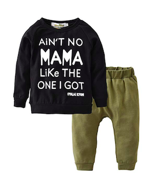 'Ain't No Mama Like the One I Got' Boys' Leggings Outfit Set
