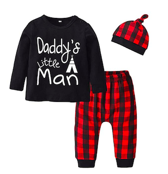 'Daddy's Little Man' Baby Boys' Three-Piece Outfit