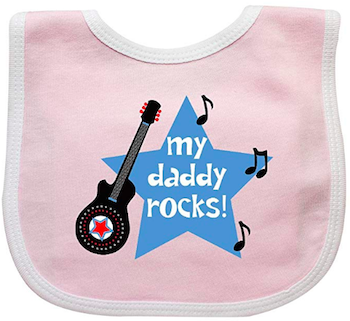 'My Daddy Rocks' Baby Bib