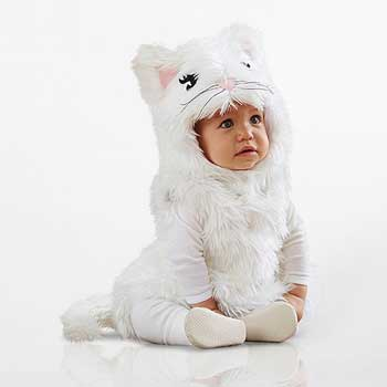 PB Kids Halloween Costume White Kitty