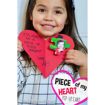 2dab903e6c9 Valentine's Day Craft Piece of my Heart Valentine's Day Card