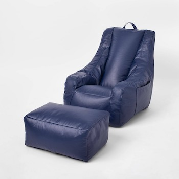 Pillowfort Supportive Chair with Pocket & Ottoman