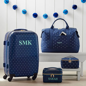 Monogrammed Luggage Set