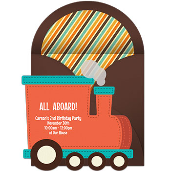 Planes Trains And Automobiles Theme Birthday Party Invitations