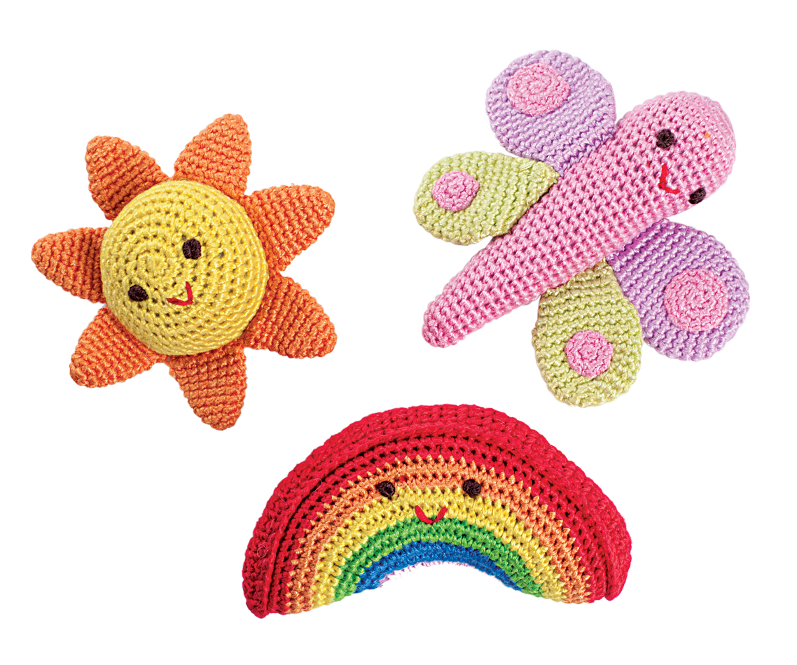 Rainbow Rattles by Yellow Label Kids