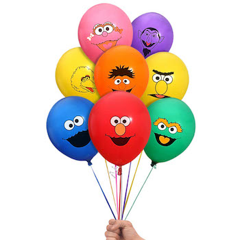 Sesame Street Elmo and Friends Party Balloon Pack