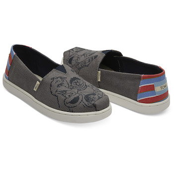 Sesame Street X TOMS Vintage Printed Canvas Youth Classics