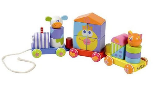 Wooden Shapes Toy Train