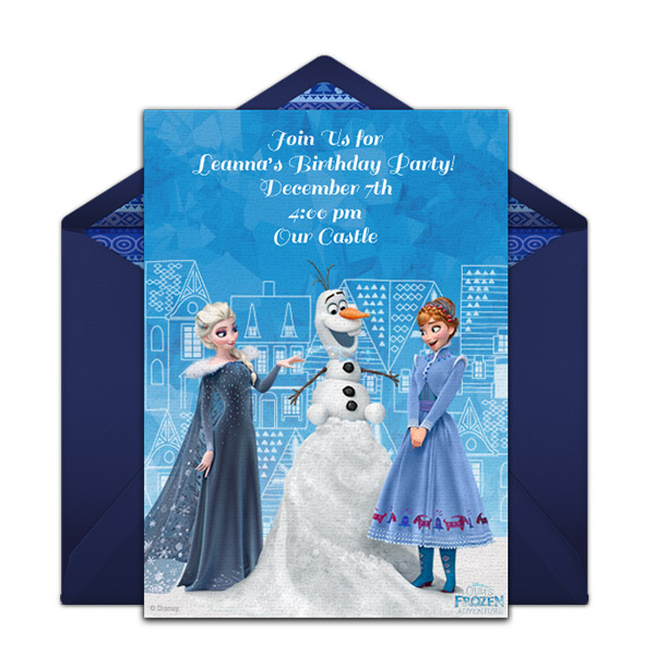 Olaf Frozen Birthday Party Invitations